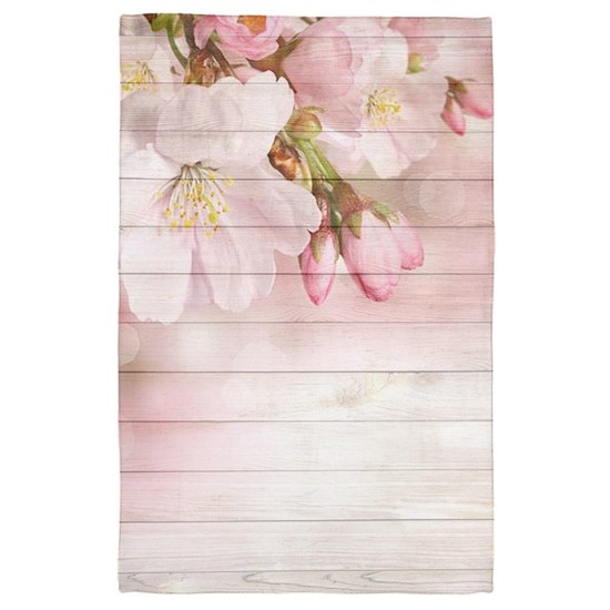 Romantic Vintage Shabby Chic Floral Wood Pink
