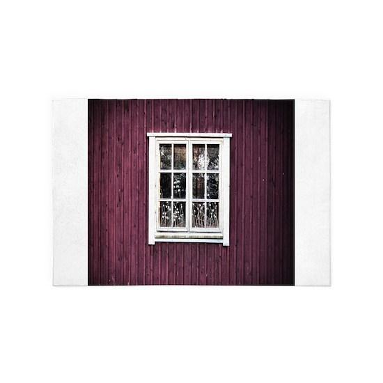 old window red barn
