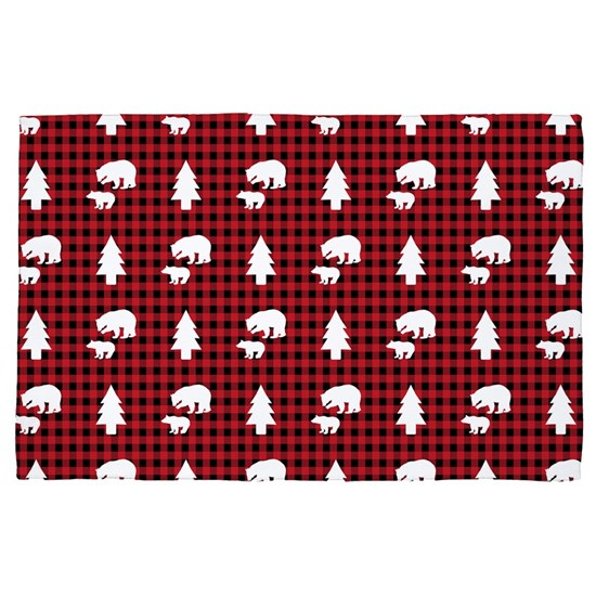 Mama & Baby Bear Pattern: Red Buffalo Plaid