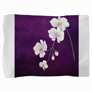 Dramatic Purple Orchids Pillow Sham