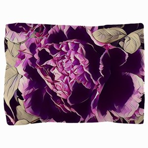 chic purple floral peony Pillow Sham