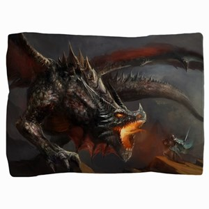 Dragon And Knight Pillow Sham