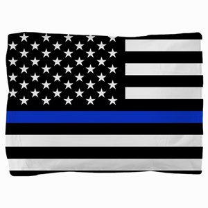 Thin Blue Line American Flag Pillow Sham