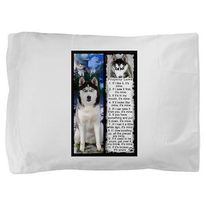 Siberian Husky Dog Laws Rules Pillow Sham