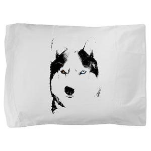 Husky Bi-Eye Husky Dog Pillow Sham