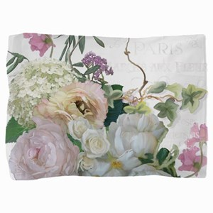 French Flower Market Paris Roses Peony Pillow Sham