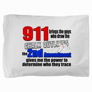 911 Chalk Outlines Pillow Sham