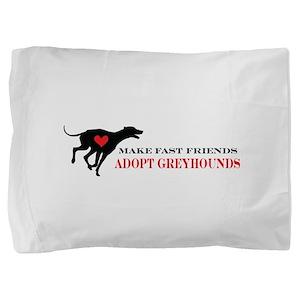 greyhound friend Pillow Sham