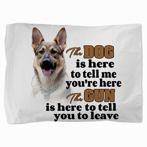 Beware of Dog/Gun - GSD Pillow Sham
