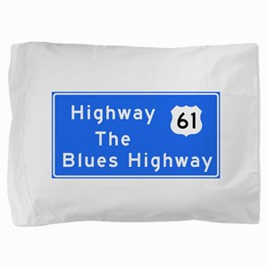 The Blues Highway 61, TN & MS Pillow Sham