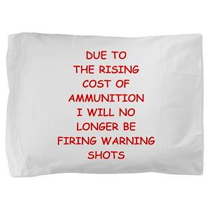 WARNING Pillow Sham