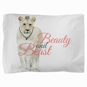 Beauty and Beast Pillow Sham