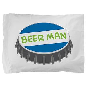 Beer Man Pillow Sham