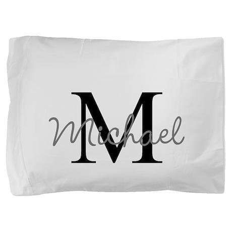 Customize Monogram Initials Pillow Sham