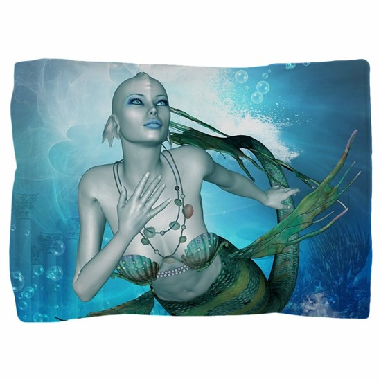 Underwater, wonderful mermaid