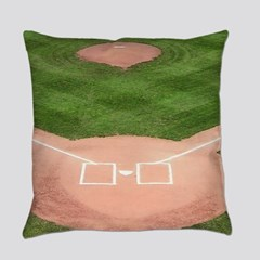 Baseball Diamond 5 X7 Area Rug By Sportsnuts Cafepress