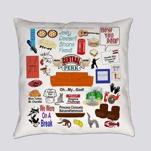 Friends TV Show Collage Everyday Pillow