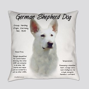 White GSD Everyday Pillow