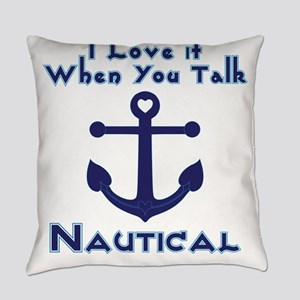 Nautical Love Everyday Pillow