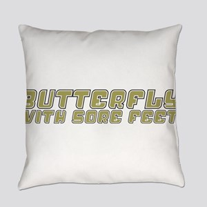 ButterflywithSoreFeet10x8 Everyday Pillow