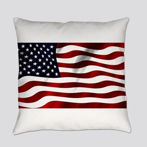 American Flag USA Everyday Pillow