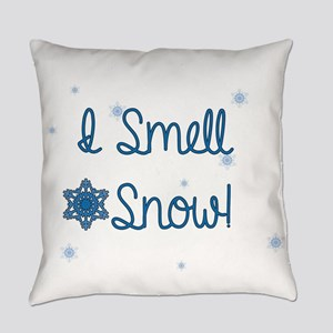 I Smell Snow Everyday Pillow