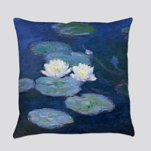 Two Water Lilies Monet Everyday Pillow