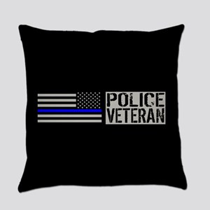 Police: Police Veteran (Black Flag Everyday Pillow