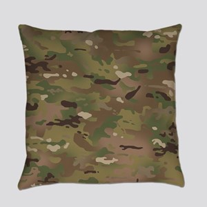 Military Camouflage Pattern Everyday Pillow