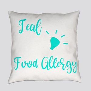 Food Allergy Im a Teal Light For F Everyday Pillow