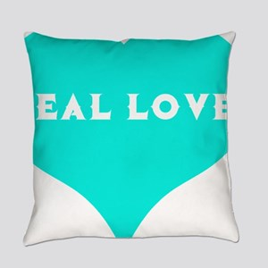 Food Allergy Teal Love Teal Heart Everyday Pillow