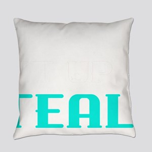 Food Allergy Lets Light It Up Teal Everyday Pillow