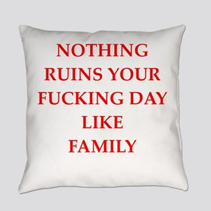 Hate My Mother Law Everyday Pillows - CafePress