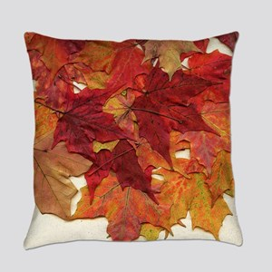 Fall Sugar Maple Leaves Everyday Pillow