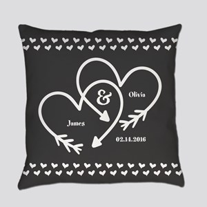 Mr. and Mrs. Wedding Customizable Everyday Pillow