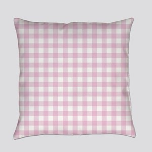 Gingham in pink Everyday Pillow
