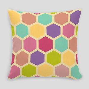 Hexagon Pastel Everyday Pillow
