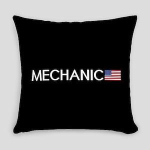 Mechanic: American Flag Everyday Pillow