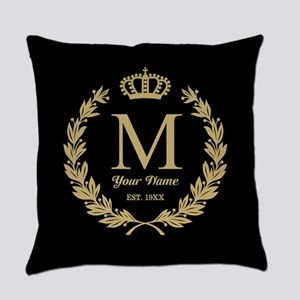 Monogrammed Wreath Crown Master Pillow