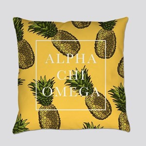 Alpha Chi Omega Pineapples FB Everyday Pillow