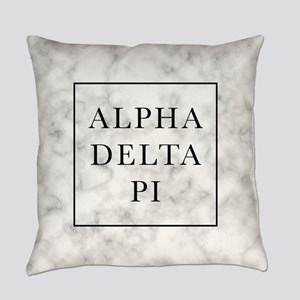 Alpha Delta Pi Marble Everyday Pillow