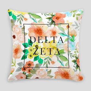 Delta Zeta Floral Everyday Pillow