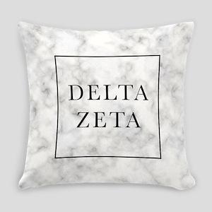 Delta Zeta Marble Everyday Pillow