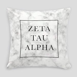 Zeta Tau Alpha Marble FB Everyday Pillow