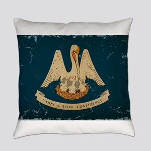 Louisiana State Flag VINTAGE Everyday Pillow