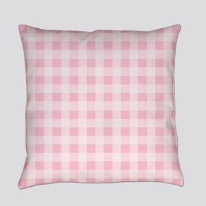 Pink Gingham Checkered Pattern Everyday Pillow
