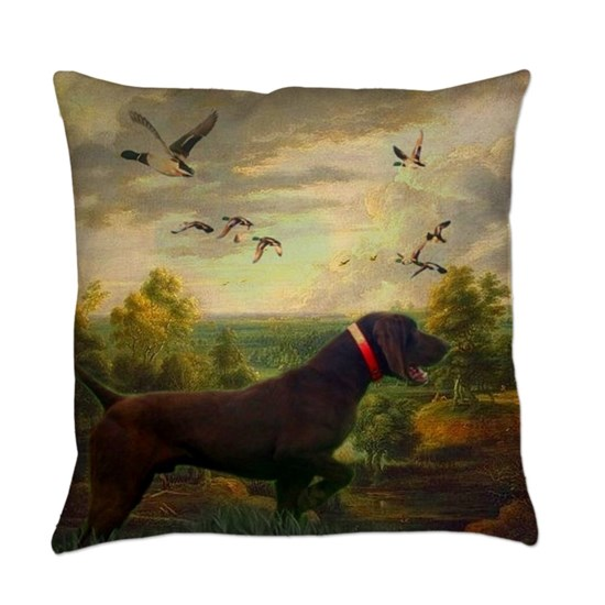 outdoors hunting pointer dog