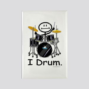 Stick Figure Drums Rectangle Magnet