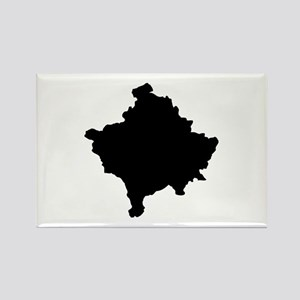 Kosovo Map Rectangle Magnet