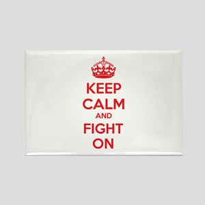 Keep calm and fight on Rectangle Magnet